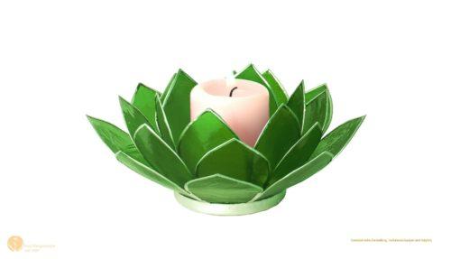 hess-klangkonzepte - Lotus Kerzenhalter- Einzeln in den Chakren Farben